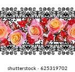seamless pattern. oriental... | Shutterstock . vector #625319702