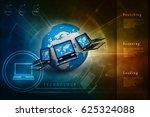 3d rendering computer network | Shutterstock . vector #625324088