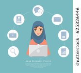 business arab woman working... | Shutterstock .eps vector #625326446