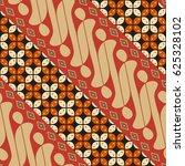 editable indonesian batik... | Shutterstock .eps vector #625328102
