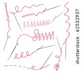 needles and thread collection... | Shutterstock .eps vector #62532937