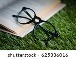 Small photo of Glasses Book Reading Time Study Read