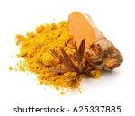 turmeric powder | Shutterstock . vector #625337885