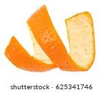 Curl mandarin peel isolated on...