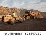 haul truck in a coppermine. | Shutterstock . vector #625347182