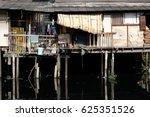 life in the slums of bangkok... | Shutterstock . vector #625351526