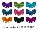 set of satin bows. bowknot ... | Shutterstock .eps vector #625352486