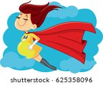 super mom vector cartoon... | Shutterstock .eps vector #625358096