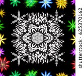 colored mandala. pattern.... | Shutterstock . vector #625370162