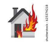 house on fire | Shutterstock .eps vector #625374218