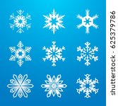 set of snowflakes | Shutterstock .eps vector #625379786