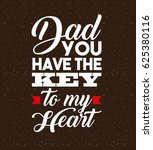 happy father day design | Shutterstock .eps vector #625380116