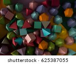 colorful abstract geometric... | Shutterstock . vector #625387055