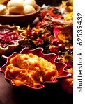 Side dishes on a holiday table - stock photo