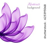 Abstract purple flower on a white background