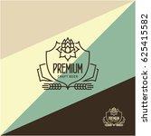 line beer label with hop | Shutterstock .eps vector #625415582