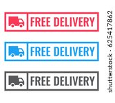 free delivery. badge with truck ... | Shutterstock .eps vector #625417862