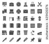 set of office icons. vector... | Shutterstock .eps vector #625420376