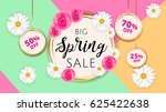 big spring sale banner template ... | Shutterstock .eps vector #625422638