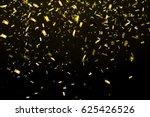 falling shiny glitter gold rain ...   Shutterstock .eps vector #625426526