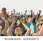 illustration of festival crowd... | Shutterstock .eps vector #625433072