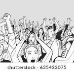 illustration of festival crowd...   Shutterstock .eps vector #625433075