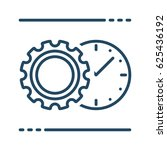 gear and clock vector icon in... | Shutterstock .eps vector #625436192