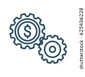 two gears with dollar sign... | Shutterstock .eps vector #625436228