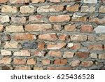 old dirty red brick wall as... | Shutterstock . vector #625436528