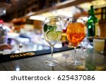 alcoholic drinks at the bar | Shutterstock . vector #625437086