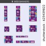 vector advertising web banners... | Shutterstock .eps vector #625439822