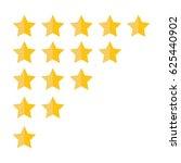 rating golden stars. feedback ... | Shutterstock .eps vector #625440902