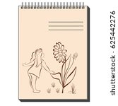 sketch notepad with different... | Shutterstock .eps vector #625442276