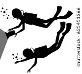 silhouette of a diver | Shutterstock .eps vector #625451366
