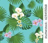 tropical pattern. | Shutterstock .eps vector #625455068