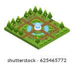 isometric green city park... | Shutterstock .eps vector #625465772