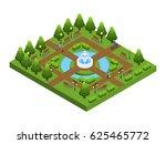 isometric green city park... | Shutterstock .eps vector #625465772