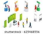 isometric set of promotion... | Shutterstock .eps vector #625468556