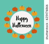 happy halloween  | Shutterstock .eps vector #625476866