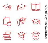 university icons set. set of 9... | Shutterstock .eps vector #625480322