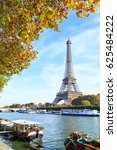 a cityscape of paris with... | Shutterstock . vector #625484222