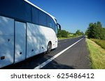 the white bus traveling on... | Shutterstock . vector #625486412