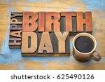 happy birthday greeting card  ... | Shutterstock . vector #625490126