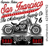 motorcycle label t shirt design ... | Shutterstock .eps vector #625498742