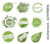 set of vector brushes eco... | Shutterstock .eps vector #625498856