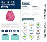 healthy food infographics... | Shutterstock .eps vector #625500866