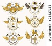 classy heraldic coat of arms.... | Shutterstock . vector #625527155