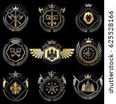 set of  vintage emblems created ... | Shutterstock . vector #625528166