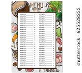 sukiyaki shabu objects menu  | Shutterstock .eps vector #625528322