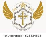 heraldic coat of arms... | Shutterstock . vector #625534535